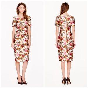 J. CREW COLLECTION Antiqued Floral Dress Size 2